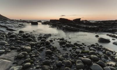 beach sunset Cornwall